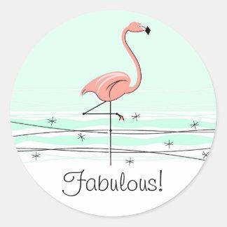 Flamingo Aqua Fabulous! sticker