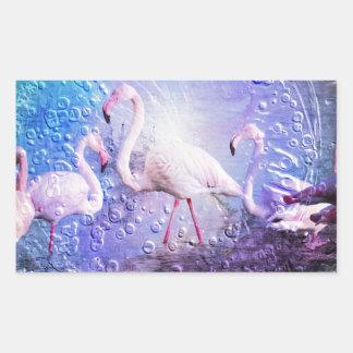 Flamingo Art 10 Rectangular Sticker