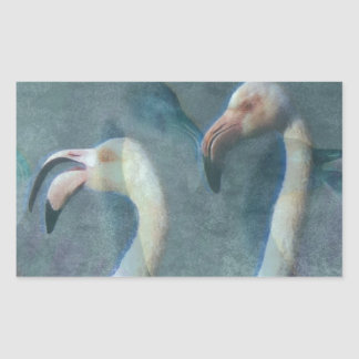 Flamingo Art 1 Rectangular Sticker