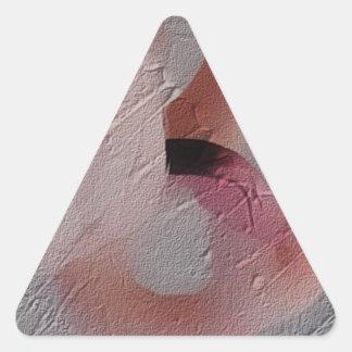 Flamingo Art 4 Triangle Sticker