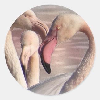 Flamingo Art 7 Classic Round Sticker