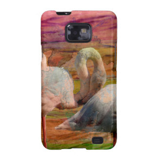 Flamingo Art Abstract Samsung Galaxy SII Cover