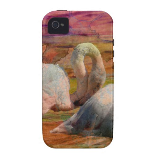 Flamingo Art Abstract Vibe iPhone 4 Cover