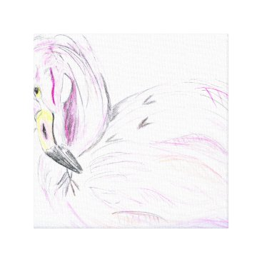 Beach Themed Flamingo Art Canvas Print