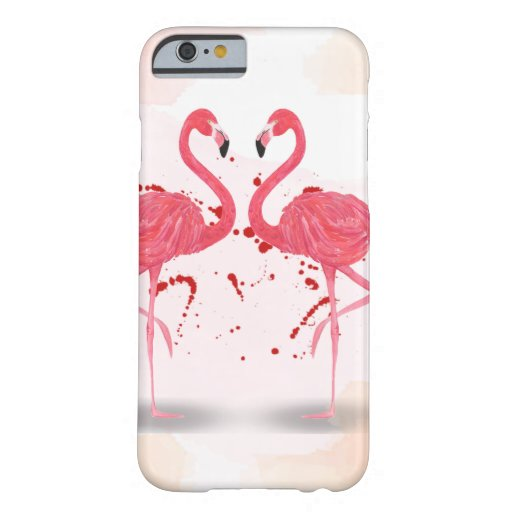 Flamingo art barely there iPhone 6 case