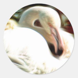 Flamingo Art Classic Round Sticker