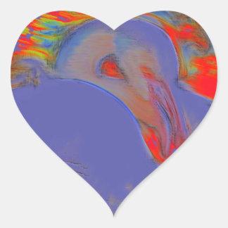 Flamingo Art Heart Sticker