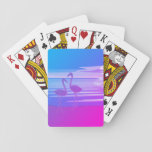 "Flamingo Art. Playing Cards<br><div class=""desc"">A deck of Playing cards,  with a distinctive Flamingo scene.