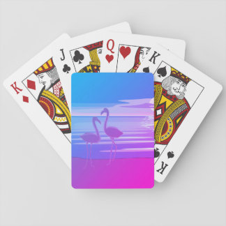 Flamingo Art. Playing Cards