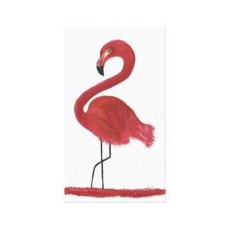 Flamingo Artwork Canvas Print