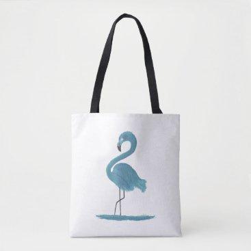 Beach Themed Flamingo Artwork Tote Bag
