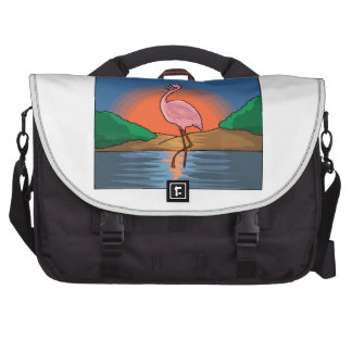 Flamingo At Sunset Bags For Laptop