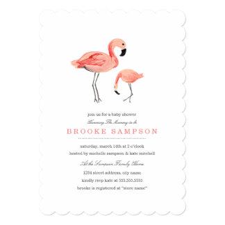 Flamingo Baby Shower 5x7 Paper Invitation Card