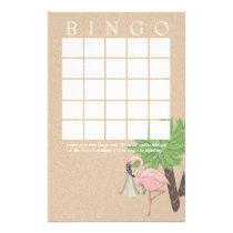Flamingo Baby Shower Bingo Card