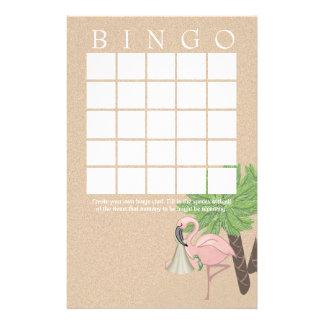Flamingo Baby Shower Bingo Card Stationery
