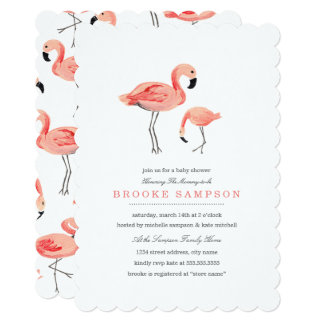 Flamingo Baby Shower Card