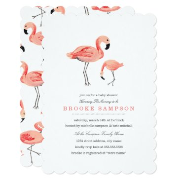 Toddler & Baby themed Flamingo Baby Shower Card