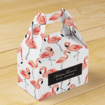Toddler & Baby themed Flamingo Baby Shower Favor Boxes