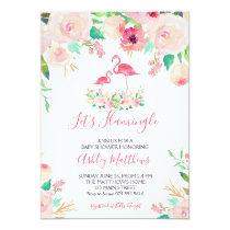 Flamingo Baby shower Invitation, Flamingo Shower Invitation