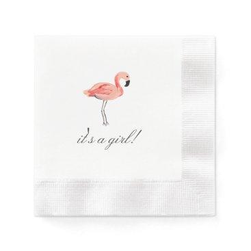 origamiprints Flamingo Baby Shower Paper Napkin