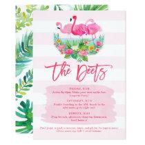 Flamingo Bachelorette Weekend Schedule Detail Card