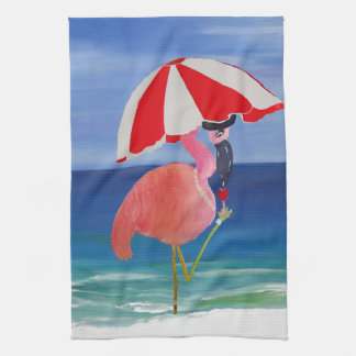 Flamingo Beach Cocktail towel