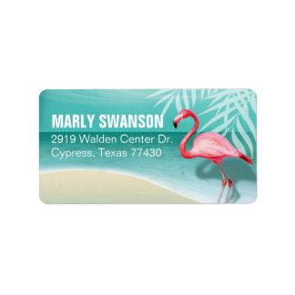 Flamingo Beach Mailing | aqua Label