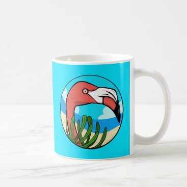 Beach Themed Flamingo Beach Mug
