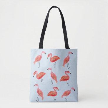 Beach Themed Flamingo Beach Please Tote
