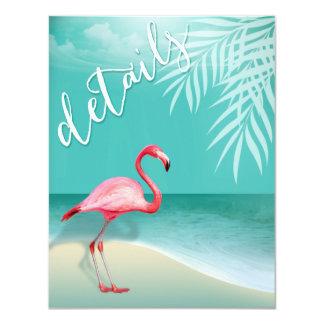 Flamingo Beach Reception Details | aqua Card