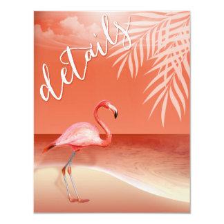 Flamingo Beach Reception Details | coral Card