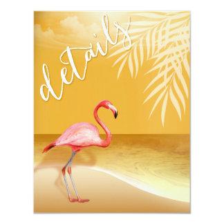 Flamingo Beach Reception Details | gold Card