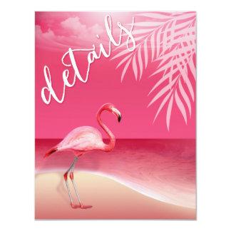 Flamingo Beach Reception Details | pink Card