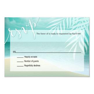 Flamingo Beach RSVP Response Card | aqua