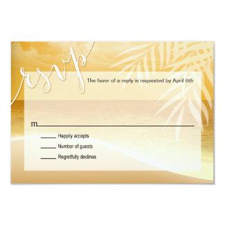 Flamingo Beach RSVP Response Card | gold
