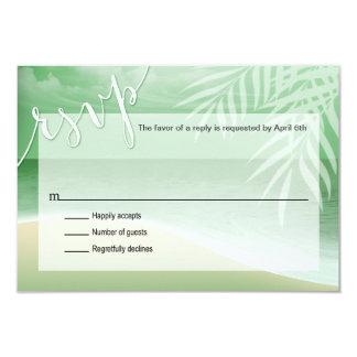 Flamingo Beach RSVP Response Card | jade