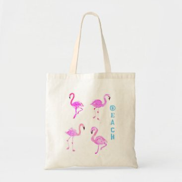 Beach Themed Flamingo Beach Tote
