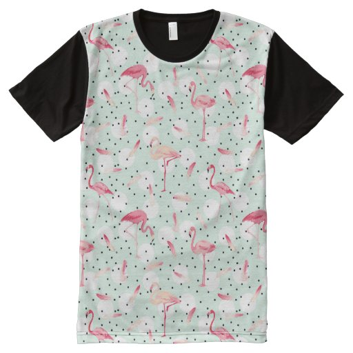 Flamingo Bird With Feathers All Over Print T Shirt Zazzle