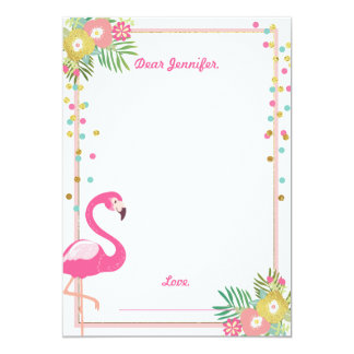 Flamingo Birthday guestbook cards Time Capsule