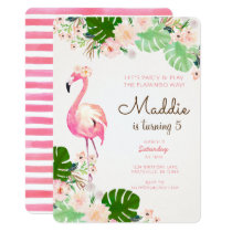 Flamingo Birthday Invitation