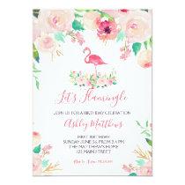 Flamingo Birthday Invitation, Flamingo Shower Invitation