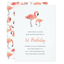 Flamingo Birthday Party Invitation