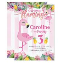 Flamingo Birthday Party Invitation Flamingo Invite
