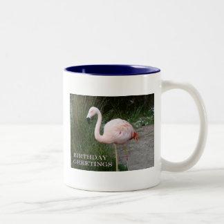 Flamingo Birthday Two-Tone Coffee Mug