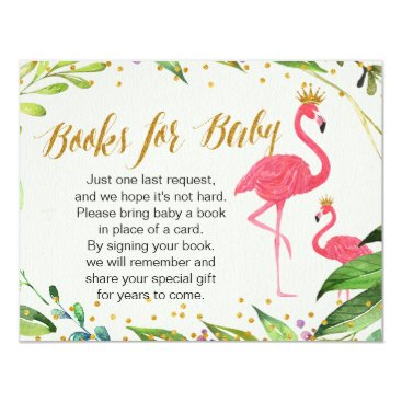 Toddler & Baby themed Flamingo - Books for Baby Insert Card