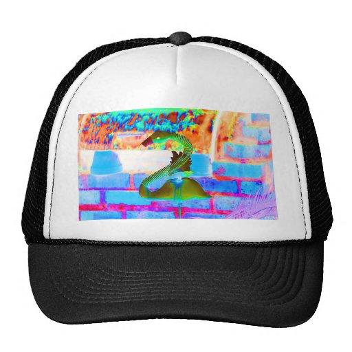 flamingo brick back colorful design invert mesh hats