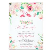 Flamingo Bridal shower Invitation, Flamingo Shower Invitation