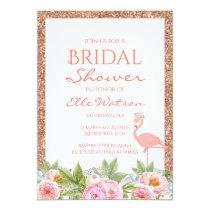 Flamingo Bridal Shower Invitation, Wedding Invitation