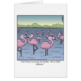 Flamingo Brother Greeting Cards