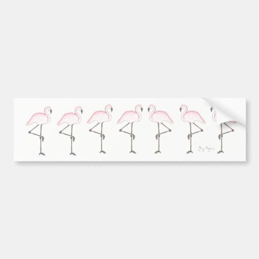 Flamingo Bumper Sticker